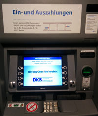 DKB deposit machine