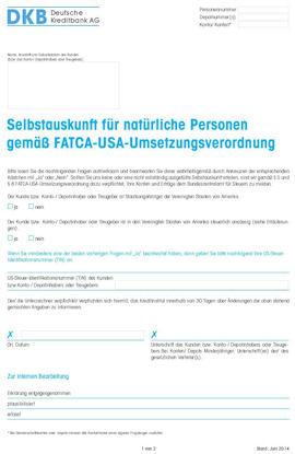DKB Facta Erklärung
