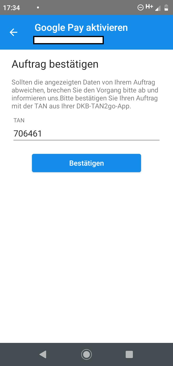 DKB Google Pay installieren