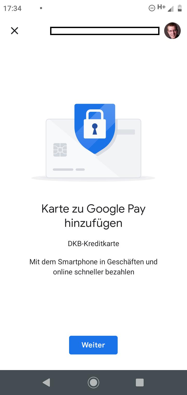 DKB zu Google Pay hinzufügen
