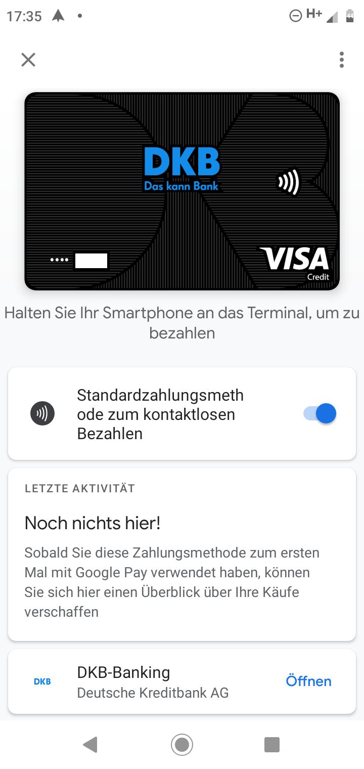 DKB Google Pay fertig