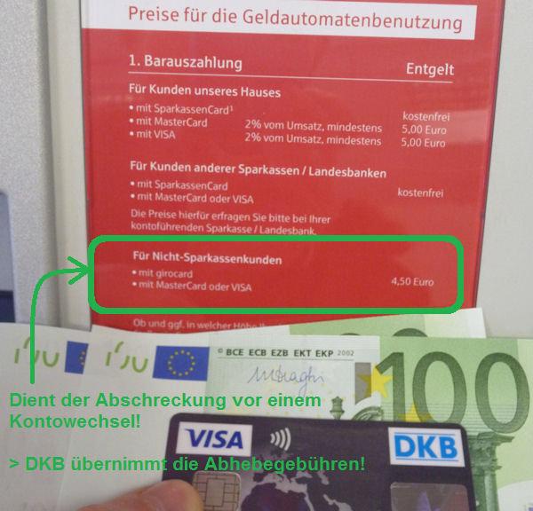 Mit der DKB kostenlos Bargeld abheben