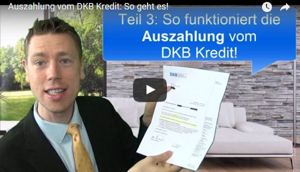 DKB Kreditauszahlung