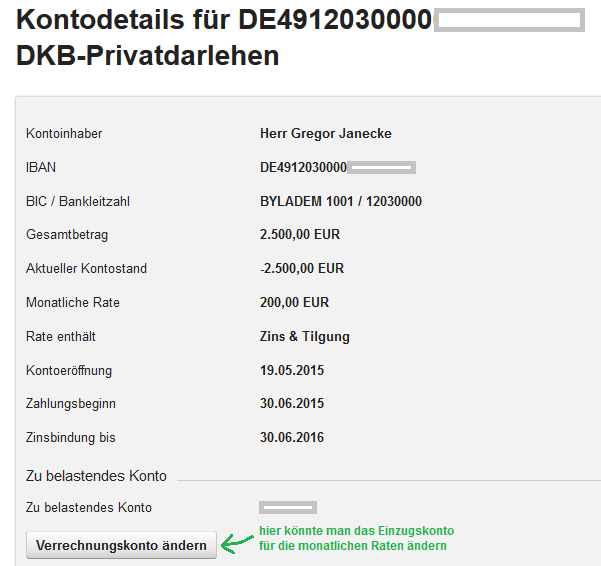 Details zum DKB Kredit