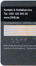 Rückseite der DKB Kreditkarte