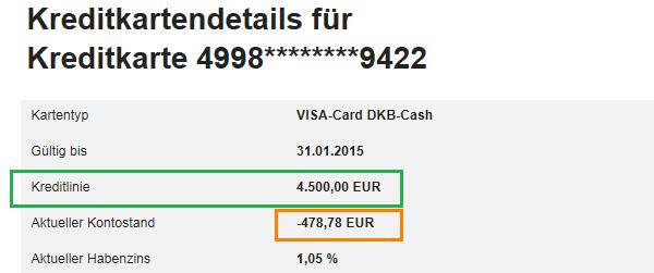 Kreditkartendetails erklärt.