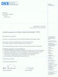 Kreditzusage der DKB