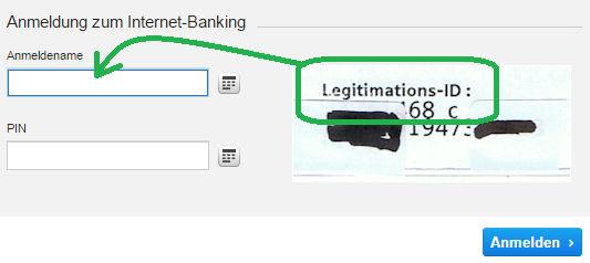 Anmeldung zum DKB-Internet-Banking mit Legitimations-ID