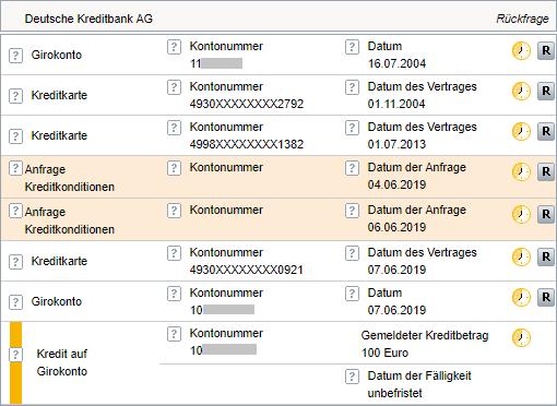 Neue Schufa DKB