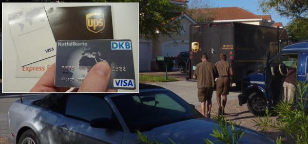 DKB Notfallkarte via Kurier (UPS)