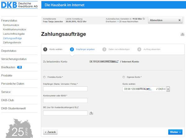 DKB Online-Banking