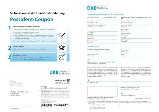 DKB PostIdent oder Identformular