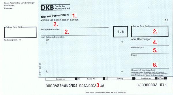 DKB Scheck