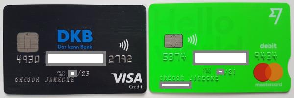DKB und TransferWise Kreditkarten