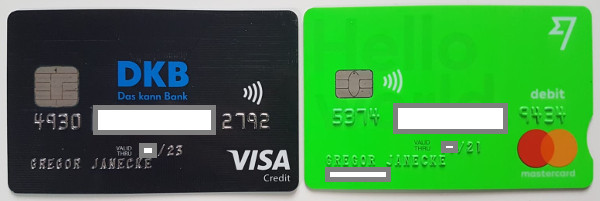 Кредитные карты DKB и TransferWise