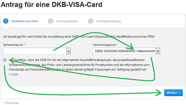 application DKB Visa Card