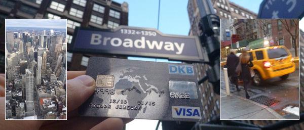 DKB Visa Card in New York