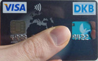 DKB Visa Card with contactless payment
