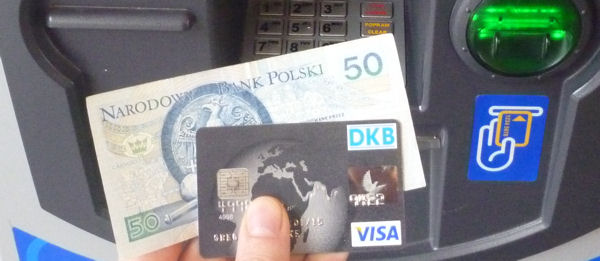 Geld mit der Visa Card in Polen abheben und Wechselgebühren sparen