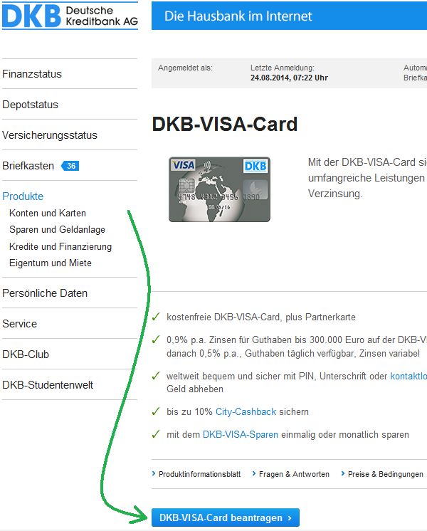 DKB Visa Card: Benefits