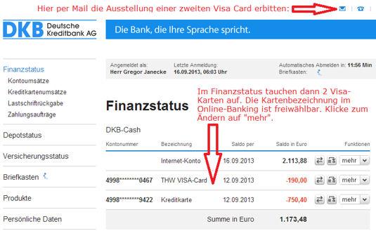 DKB Online-Banking und Kreditkarte