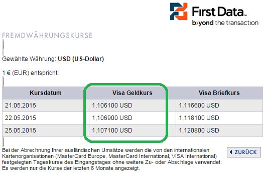 Bildschirmfoto Firstdata DKB Kreditkarate
