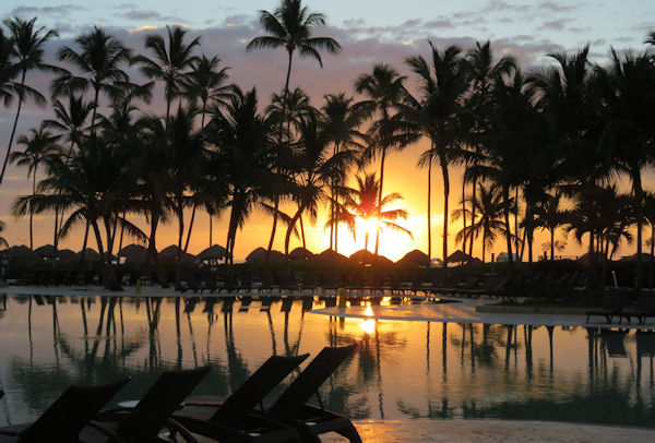 Dom-Rep Sonnenuntergang