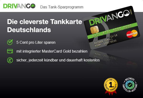 Drivango MasterCard mit Tankkarte