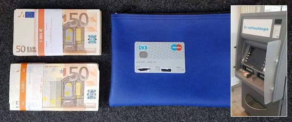 Einzahlungsautomat der DKB