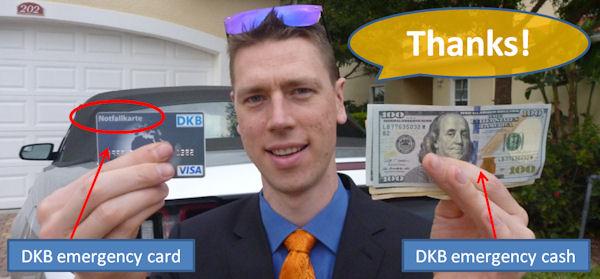 DKB Notfallkarte und Notfallbargeld in den USA