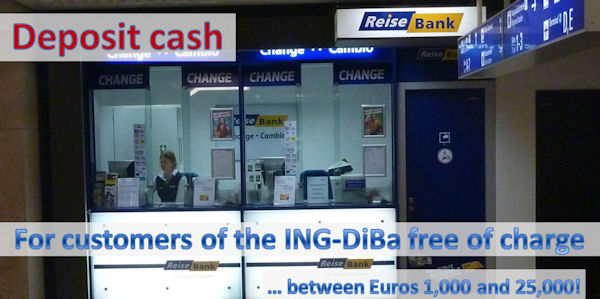 ING-DiBa deposit cash in Germany