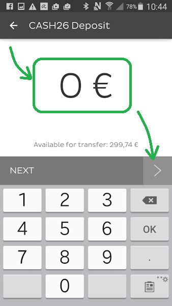 Deposito di denaro tramite Number26 Part 4