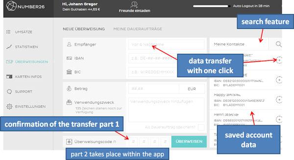 number26 transfer app