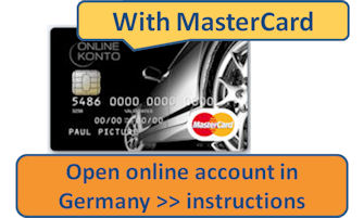 Open online account in Germany