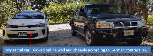 Cheap rental car on Roatan