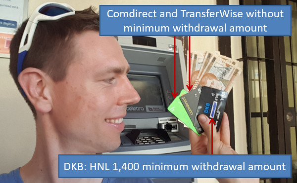 Withdraw money in Honduras - Roatan