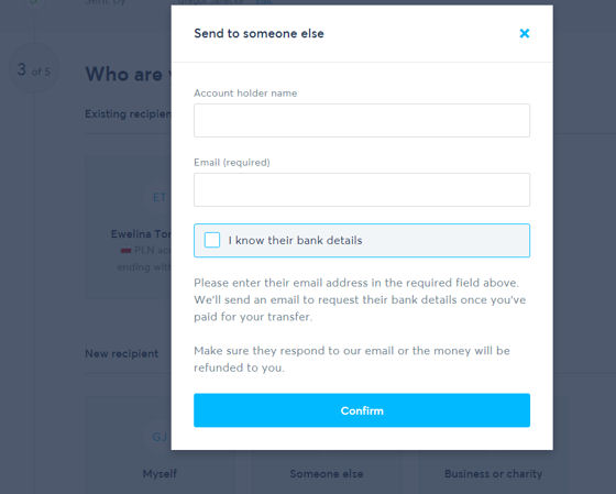 send money to an email address with transferwise