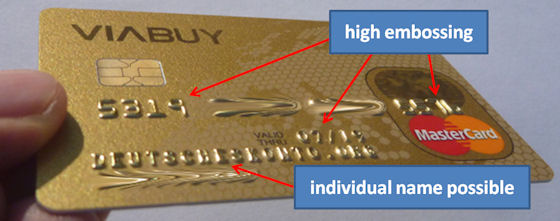 Viabuy Credit Card Gold