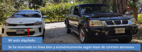 Alquiler de coches baratos en Roatan