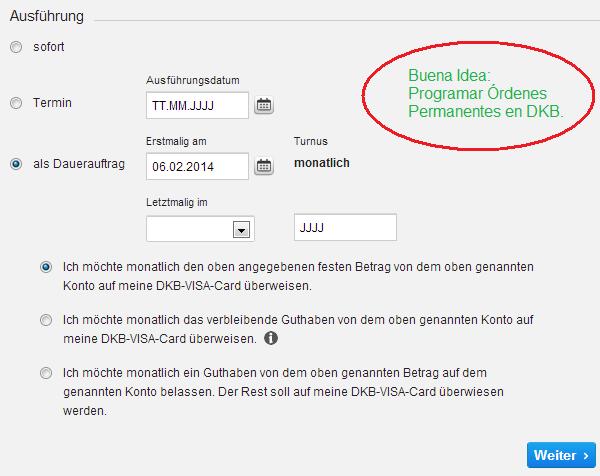 Buena Idea: Programar Órdenes Permanentes en DKB.