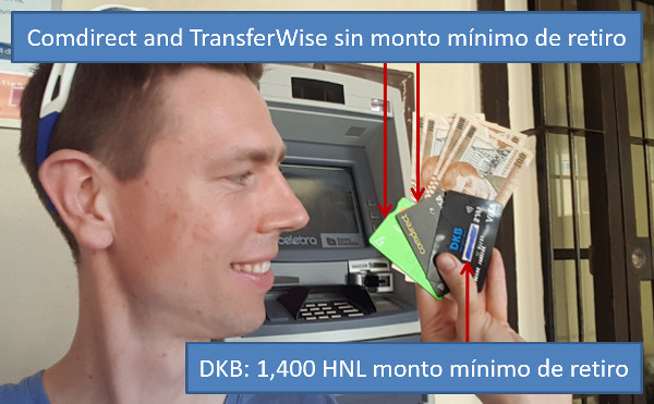 Retirar dinero en Honduras - Roatan