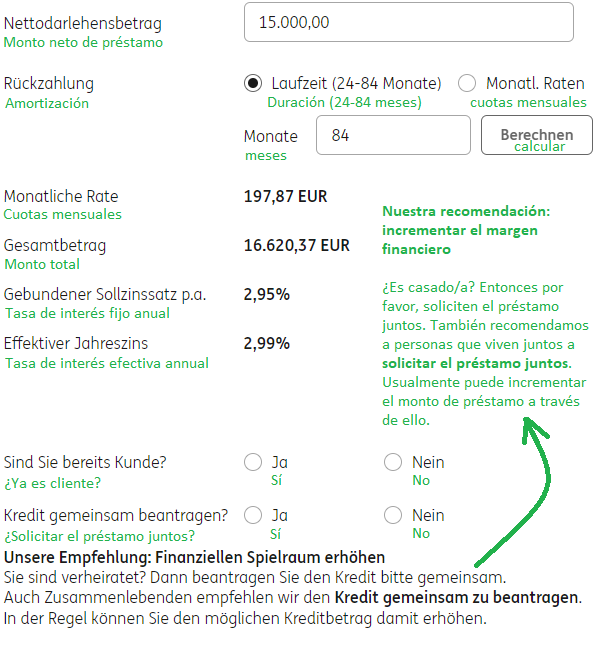 Préstamo de auto en Alemania ING-DiBa