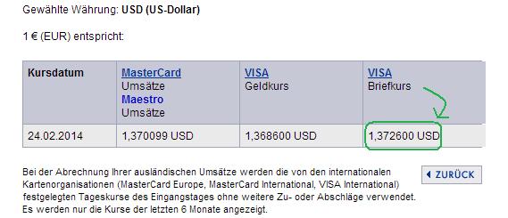 So hätte First Data den Währungskurs umgerechnet