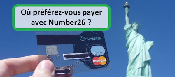 Où préférez-vous payer avec Number26 ?