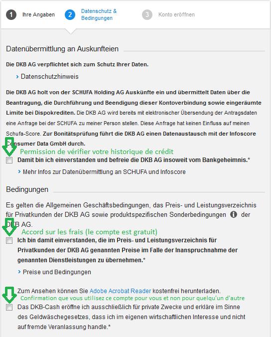Petit Imprimer Compte DKB application
