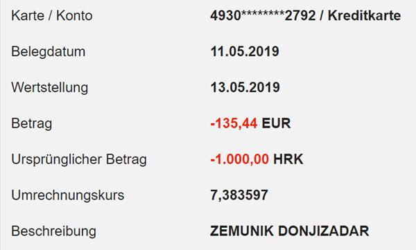 Geld abheben in Kroatien mit der DKB Visa Card