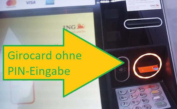Geld einzahlen mit der Girocard bei der ING