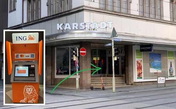 Geld einzahlen bei Karstadt