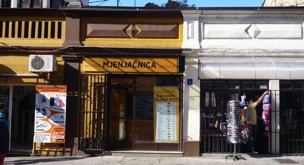 Wechselstube in Tuzla/Bosnien
