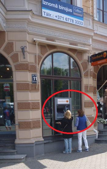 Geldautomat in Riga